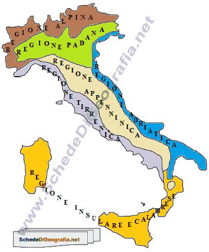 Cartina Geografica Regioni Italia.Le Regioni Climatiche Italiane