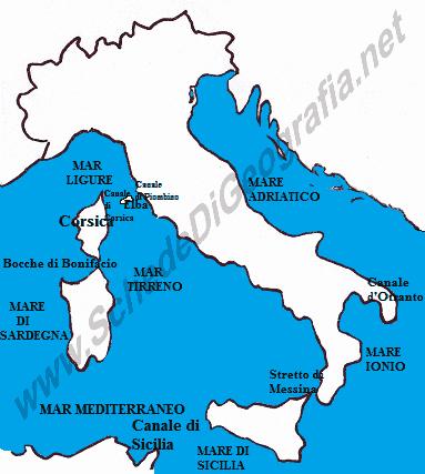 Cartina Mediterraneo Occidentale.Il Mare Mediterraneo