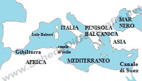 Mare Mediterraneo Cartina.Il Mare Mediterraneo