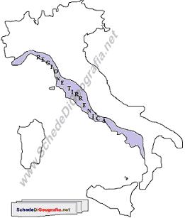 Italia Climatica Cartina.La Regione Climatica Ligure Tirrenica