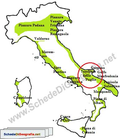 Cartina Puglia Zona Gargano.Il Tavoliere Delle Puglie